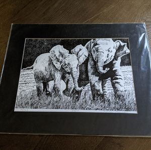 New Elephant drawing picture